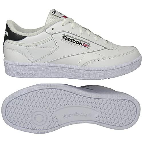 Reebok Club C 85 Shoes, Scarpe-Basse (Non Calcio) Uomo, Ftwr Bianco Ftwr Nucleo Bianco Nero, 47 EU