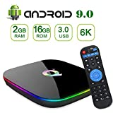 TV Box Android 9.0, Q Plus Android TV Box with 2GB RAM 16GB