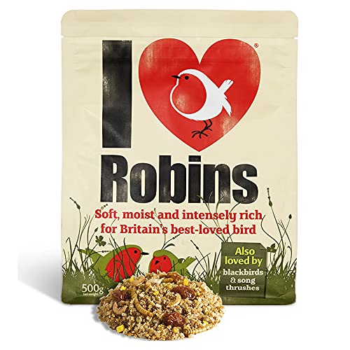 Robin Food 500G - I Love Robins - Super-Rich High Energy Bird Food for Robins, Blackbirds and Thrushes