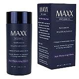 MAXX PRO-SERIES Volumizing Fibras del cabello con queratina real para adelgazar el cabello/Pérdida del cabello - 60 días + suministro - Probado por dermatólogos - Hipoalergénico - (Rubio medio)