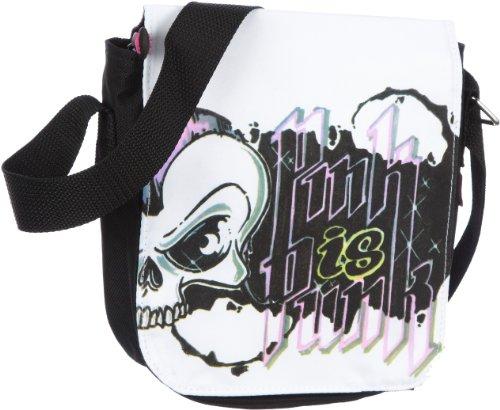 poodlebag® Messenger-Bag young Art Umhängetasche Overcross Tasche Schultasche jetzt 70% unter UVP Größe 17 x 6 x 19 cm (B x H T) (Skull)