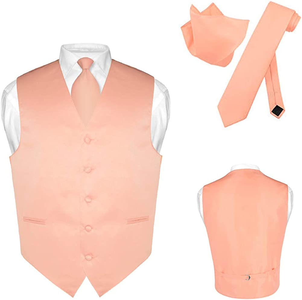 Men's Dress Vest 25% OFF Necktie Hanky Solid Color Set Tie Max 40% OFF Suit Tux Neck