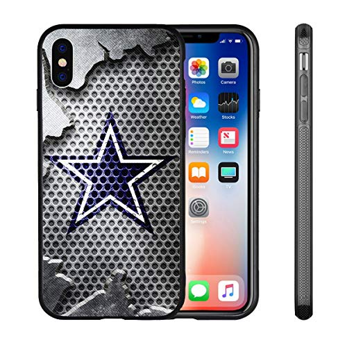 Cowboys iPhone X Xs Case iPhone X Cowboys Design Case TPU Gel Rubber Shockproof Anti-Scratch Cover Shell for iPhone Xs/iPhone X 5.8-inch