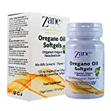 Zane Hellas Oregano Oil Softgels. The Highest Concentration in The World. Every Softgel Contains 25% Pure Greek Wild Essential Oil of Oregano. 108 mg Carvacrol per Softgel. 60 Softgels.