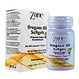 Zane Hellas Oregano Oil Softgels. La mayor concentración del mundo. Cada cápsula contiene un 25% de aceite esencial de orégano silvestre griego puro. 108 mg de Carvacrol por cápsula. 60 cápsulas.