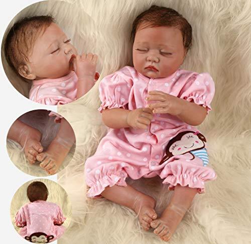 ZIYIUI Reborn 20 Pulgadas 50 cm Muñecas bebé Realista Suave Silicona Simulación Vinilo Recién Nacido Hecho a Mano Bebe Muñecos Regalo Magnetismo Juguetes para niños Mayores de 3 años