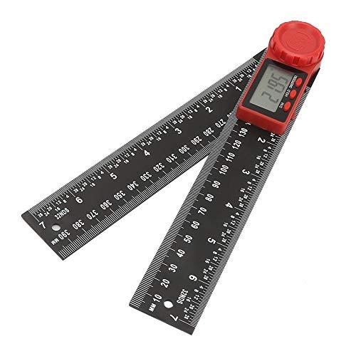 デジタル 角度計 分度器 200mm/300mm 速読デジタルプロトラクター ステンレス鋼 定規 ホールド機能付き 360度自由調整 角度ゲージ デジタル分度器 角度ルーラー 長さ測定 角度定規 角度測定 (300mm)