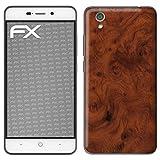 atFolix Skin kompatibel mit ZTE Blade A452, Designfolie Sticker (FX-Wood-Root), Holz-Struktur/Holz-Folie