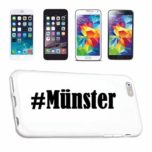 Reifen-Markt Handyhülle kompatibel für Samsung S3 Galaxy Hashtag #Münster im Social Network Design Hardcase Schutzhülle Handy Cover Smart Cover
