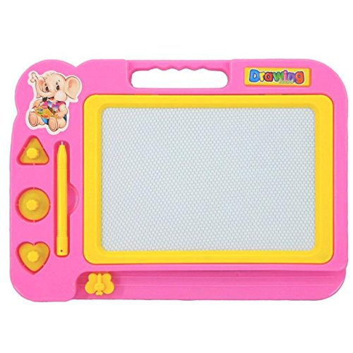 JMcall Children Kid Magnetic Writing Painting Drawing Graffiti Board Toy Preschool Tool(Color:Pink & Material:)