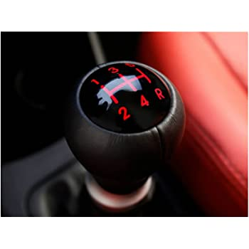 5Speed Gear Shift Knob Leather For KIA PICANTO Morning 2011 2015