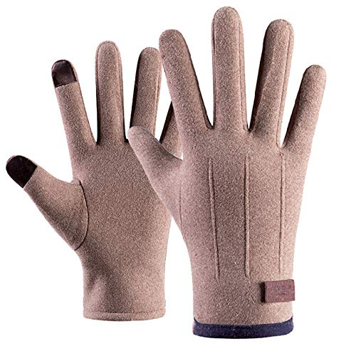 Lazzboy Winterhandschuhe Damen Winter Warm Thickening Plus Samthandschuhe Winddichtes Outdoor-radfahren Kaschmir Handschuh Für Warme Touchscreen Strick Handschuhe (Rosa)