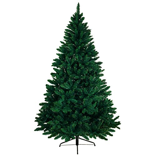 BB Sport Christbaum Weihnachtsbaum PVC 150 cm Dunkelgrün Tannenbaum Künstlich Standfuß Klappsystem