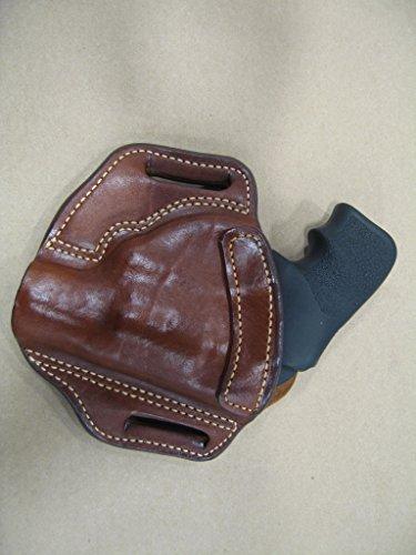 Leather 2 Slot Molded Pancake Belt Holster for Kimber K6S 6 Shot Revolver CCW TAN RH