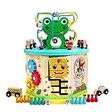 Actividad juguetes del cubo Puzzle rebordeó los juguetes de madera del juguete del bebé Intelectual educación temprana Hexaedro juguetes educativos, regalos for niños y niñas 1-12 para los niños peque