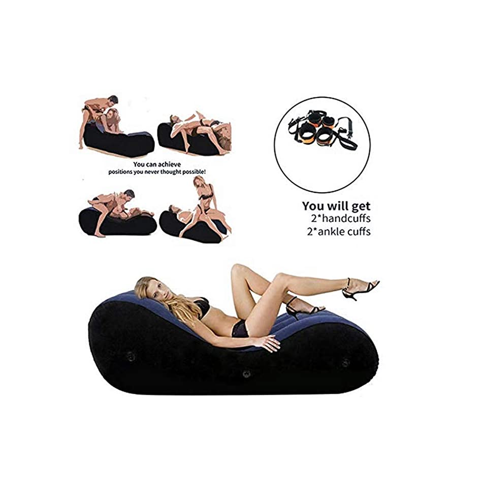 Inflatable Multifunctional Sofa Role Play Inflatable Sofa,Yoga Chaise Lounge/Relax Chair - Portable Magic Cushion Ramp Body Pillow