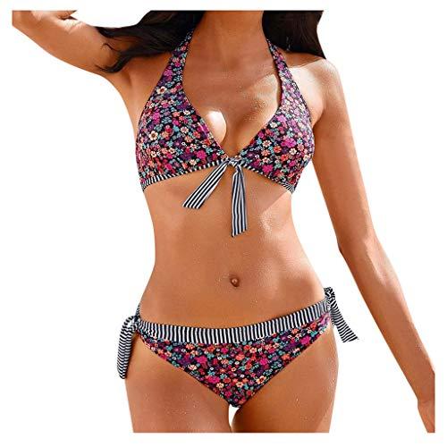 MERICAL Damen Brasilianischer Bikini Set Bademode Halfter Weste Tops Badeanzug Strand Badeanzug