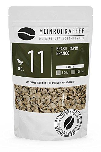 Rohkaffee - Brasil Capim Branco (grüne Kaffeebohnen) - süsslich, orangig, komplexe balanciertes Aroma - 500g