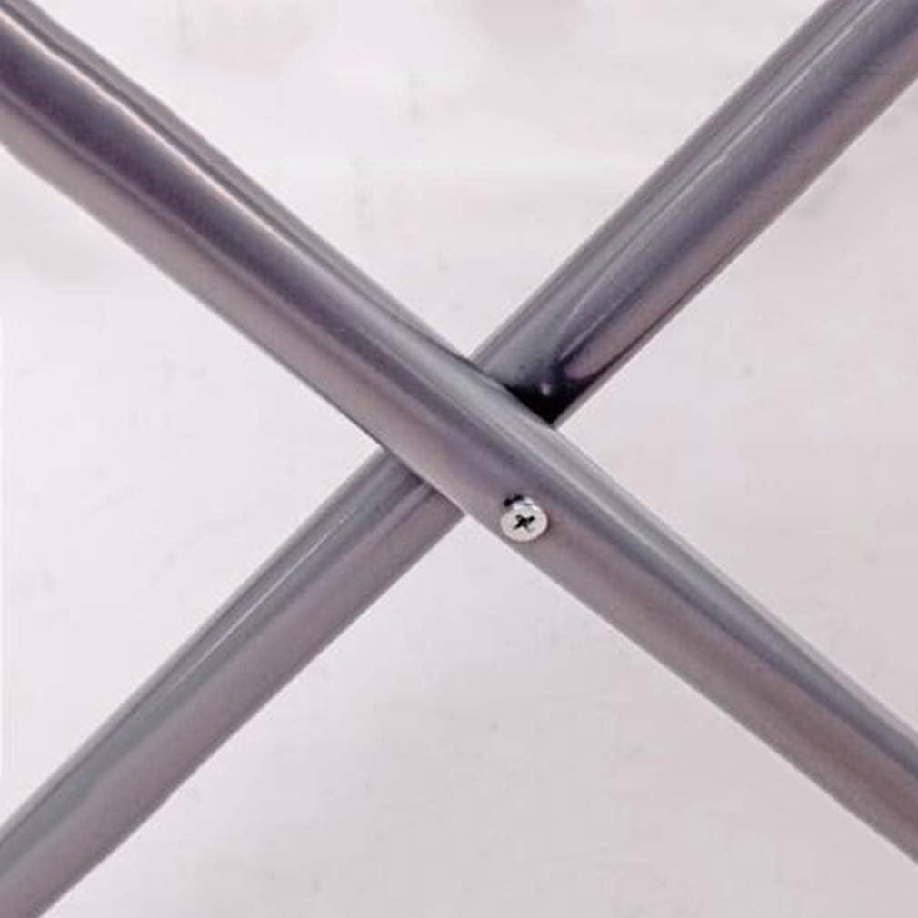 JY&WIN Tabouret Loisirs Métal Éponge Tissu Chaise Pliante Antidérapante Ménage, 9 Couleurs (Couleur: D, Taille: 40X40X43CM) 40x40x43cm-h