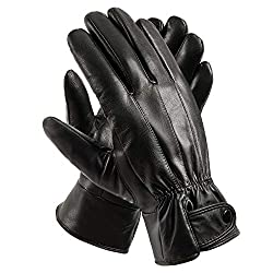 Best Gloves For Driving In Winter - Anccion Men's Genuine Leather Driving Gloves