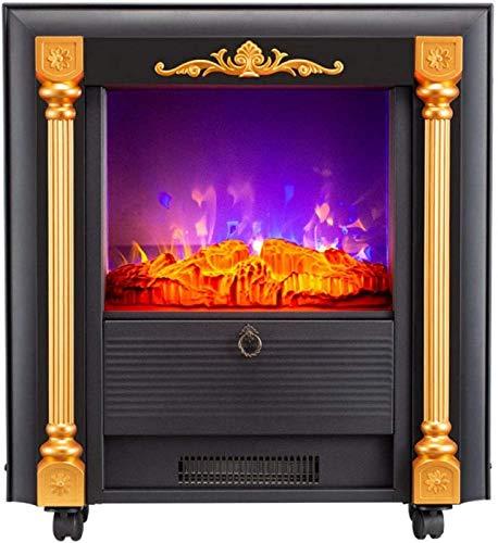 Estufa de chimenea portátil, Calentador de chimenea pequeño, Chimenea eléctrica empotrada, Villa...