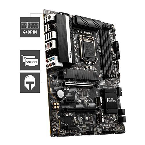 MSI Z590-A PRO Scheda madre ATX - Supporta i processori Intel Core di 11th Gen, LGA 1200 - 12 Duet Rail 55A VRM, DDR4 Boost (5333MHz/OC), PCIe 4.0 x16, 3 x M.2 Gen4/3 x4, 4K/60Hz HDMI, 2.5G LAN