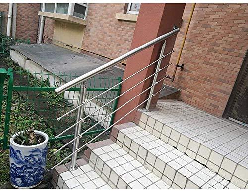 ZF Bedside Geländer benutzerdefinierte Edelstahl Innen- und Außentreppe Geländer Balkon Villa Glas Leitplanke Technik Haushalt Zeichnung,120cm