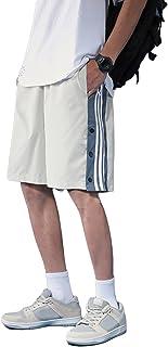 [リディーコロ] ボタン スリット ハーフパンツ 短パン ショートパンツ 夏 メンズ M~2XL 3カラー