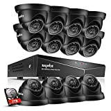 SANNCE 2TB HDD 16-Channel 1080N DVR Video Surveillance System W/ 12 1080P Hi-Resolution
