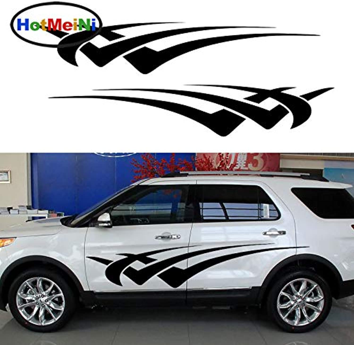 2 X Personalized Abstract Stripe Quickly Move Forward Through Car Sticker Camper Van Car Styling Vinyl Decal 10 colors