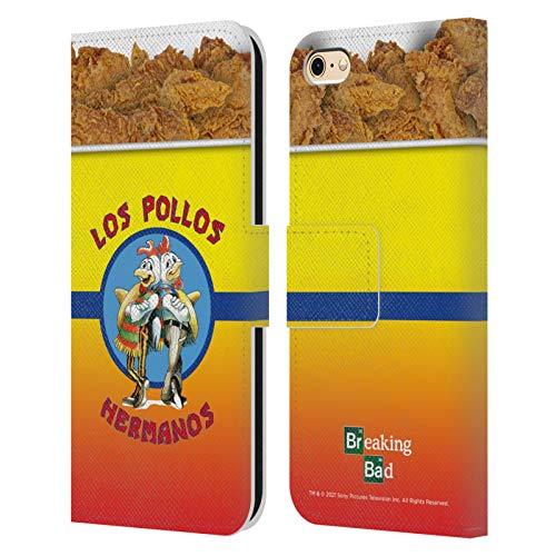 Head Case Designs Licenza Ufficiale Breaking Bad Los Pollos Hermanos Secchio di Pollo Iconico Cover in Pelle a Portafoglio Compatibile con Apple iPhone 6 / iPhone 6s