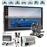 Autoradio double DIN 7' Ecran Tactile Autoradio MP3/MP5/FM Player Support Bluetooth/USB/TF avec Télécommande