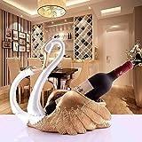 HJXSXHZ366 Estante de vino montado en la pared estilo europeo personalidad moderna originalidad resina vino estante pequeño estante vino (color: Angel's Kiss is Orange)