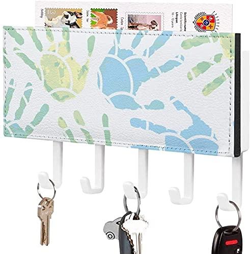 Soporte para llaves para gancho de llaves montado en la pared, carta de truco o trato de Happy Halloween, soporte para correo de entrada a la pared, organizador de llaves decorativo con 5 ganchos, pa