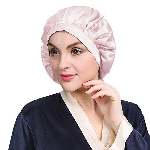 LilySilk LilySilk Seide Schlafmütze Atmungsaktive Nachtmütze Kopfbedeckung mit klassischer und bequemer Form Verpackung MEHRWEG (Hell Pflaume)