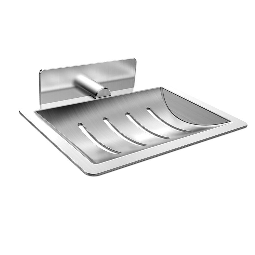 Seifenhalter, ONEZERO® Seifenschale 19M Selbstklebende  Edelstahl-seifenablage ohne Bohren Bewerben auf Badezimmer Küche