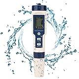 Haofy Probador de Agua 5 en 1 Probador de Calidad de Agua Multifuncional, Medidor Digital de TDS/EC/Salinidad/pH/Temperatura para Agua Potable, Piscina, Acuario, Pecera, Hidroponía