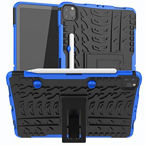 QINYUP Funda anticaída para iPad Pro 11 2020 Funda con diseño de neumático Funda de Silicona para Apple iPad Pro 11 2da generación A2068A2230-Azul
