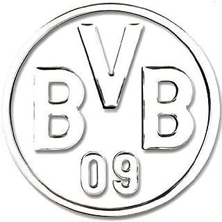 Borussia Dortmund Autoaufkleber 3D silber Borussia Dortmund BVB 09 Aufkleber / Sticker / Gesichtaufkleber etiqueta engomada / autocollant