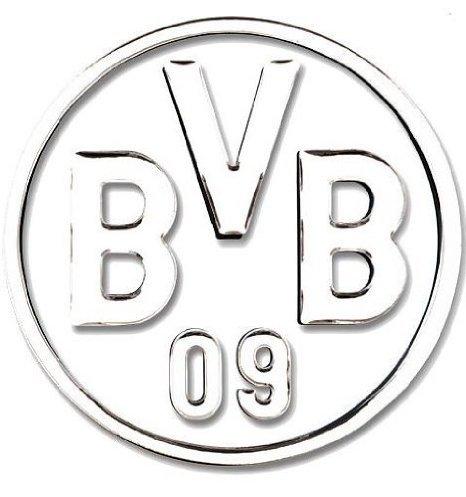 Autoaufkleber 3D silber Borussia Dortmund BVB 09 Aufkleber / Sticker / Gesichtaufkleber etiqueta engomada / autocollant