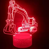 Lampe 3D Machines d'ingénierie et des excavatrices Base de Haut-Parleur Bluetooth pour Enfants USB LED Night Light Lamp