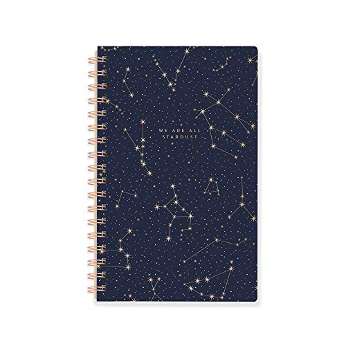 Fringe Signature 896048 - Diario en espiral, 160 páginas a rayas, 15,2 x 24,1 cm, diseño de estrellas