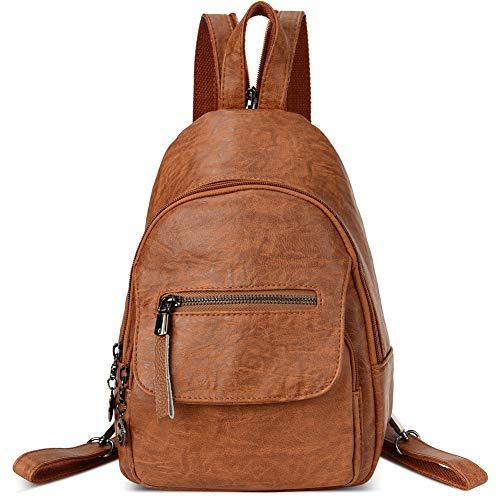 Women Backpack Purse PU Leather Zipper Convertible Sling Shoulder Pockets Bags