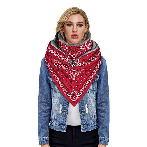 Janly Clearance Sale Bufanda de invierno caliente con botón de impresión para mujer, bufanda (tamaño libre de electrónico)