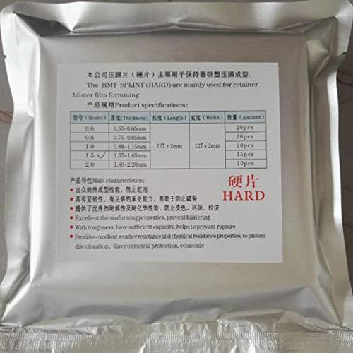 1 bolsa de material dental, placa de formación de vacío duro, bandas de matriz dental, ortodoncia retenedora, rebanada 1.0 mm/1.5 mm/2.0 mm para opción