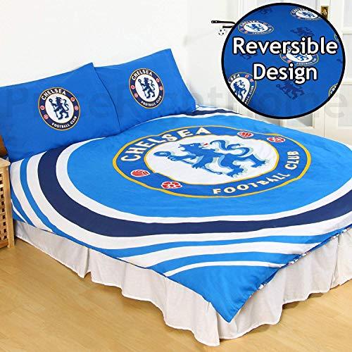 Chelsea FC Pulse Reversible Double Duvet Quilt Cover and 2 x Pillowcases Set