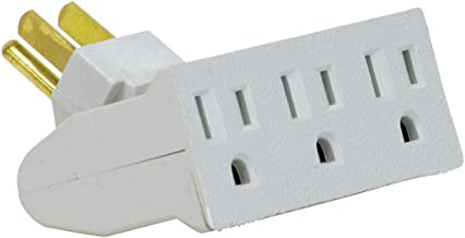 Globe Electric 46505 3-Outlet Lateral Swivel Grounded Wall Adapter Tap, White Finish