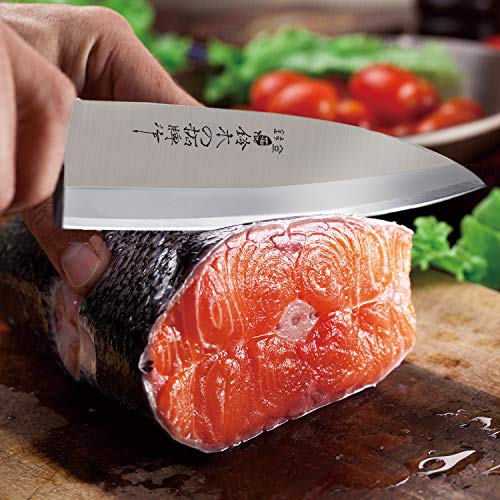 TUO Deba knife, Fish Filleting Knife 6.5 inch, High Carbon Stainless Steel Japanese Sashimi Knife, Comes with A Gift Box