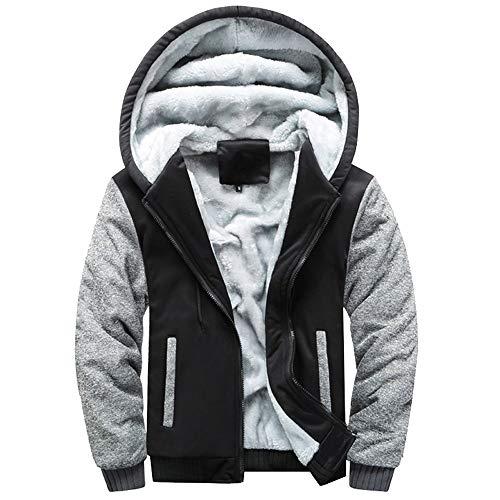Herren Winterjacke Sweater Jacke Outwear Zipper Fleecejacke Hoodie Verdickte Kapuzenjacke Freizeit Jacke Größe Mantel
