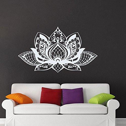 BJWQTY Mandala Flower Yoga Studio vinilos de Pared Papel Tapiz extraíble Salón Dormitorio sofá Cama calcomanía Mural extraíble-98x57cm
